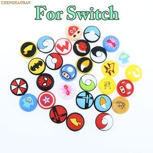 Image 2 - Mix 35 farben Silikon Analog Thumb Stick Griffe Kappen für Nintend Schalter NS JoyCon Controller Sticks Kappe Haut Freude Con abdeckung