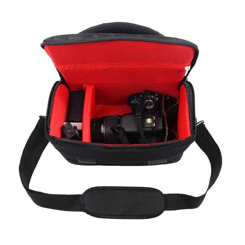 Nylon impermeabile Borsa A Tracolla Della Fotocamera Custodia per il trasporto per Canon EOS 77D 70D 80D 4000D 2000D 5D Mark IV III 60D 6D 7D Mark II 2 50D
