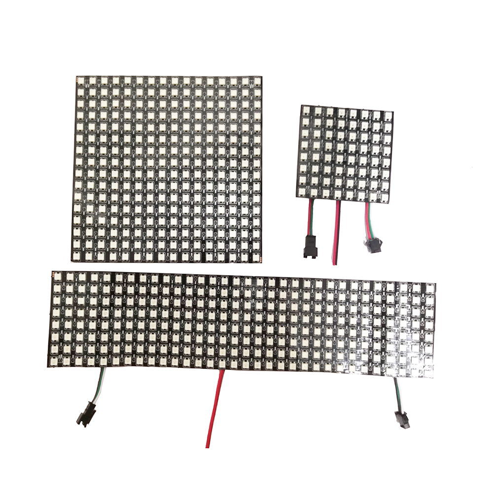 WS2812B RGB Flexible 16x16 8x32 8x8 Pixel Panel Matrix Screen WS2812B ECO Led Module WS2812 IC Individually Addressable DC5V image