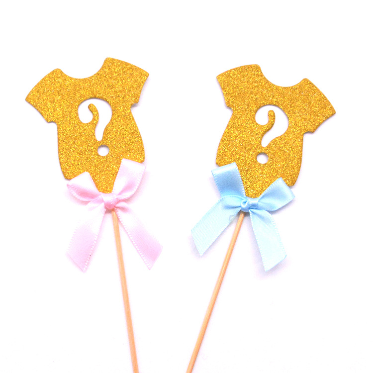 Blue Pink Boys and Girls Paper Birthday Cake Insert Baby Clothes Dessert Cake Insert Children 39 s Birthday Party in Party DIY Decorations from Home amp Garden