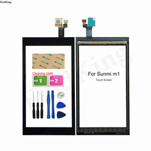 Mobile Touch Screen For Sunmi M1 Touch Screen Digitizer Panel Lens Sensor Panel Front Glass TouchScreen Tools 3M Glue
