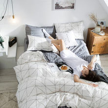 100% funda nórdica de algodón establece varios diseños de cama de lujo rey tamaño edredón de funda y almohada Set de fundas para la casa para Hotel