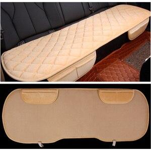 Image 5 - Foteliki samochodowe mata ochronna Auto poduszka na tylne siedzenie pasuje większość pojazdów antypoślizgowe utrzymuj ciepło zima plusz aksamit powrót poduszka na siedzenie