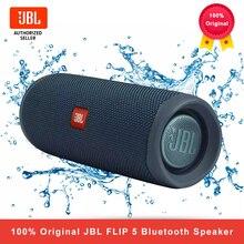 100% أصليّ JBL Flip 5 سمّاعات بلوتوث مصغّر قابل للنقل IPX7 مقاوم للماء لاسلكيّ في الهواء الطلق ستيريو باس موسيقى JBL Flip 5