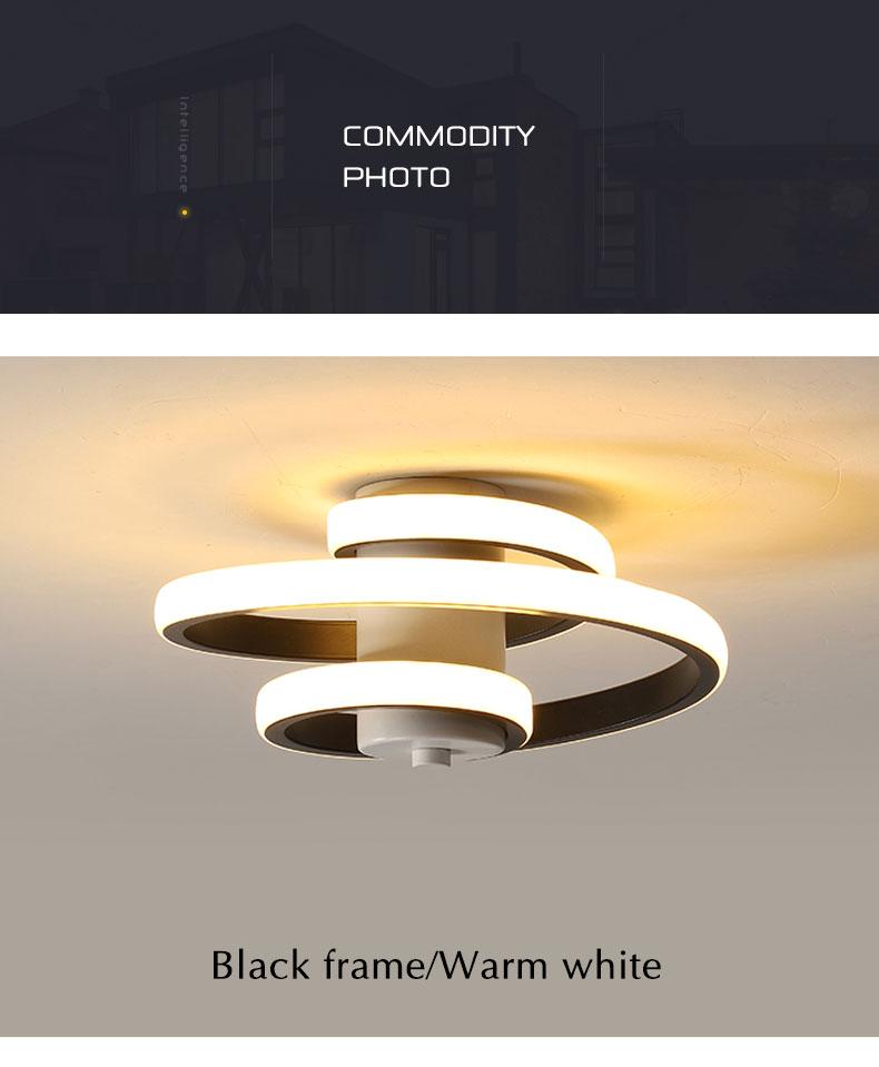 varanda luz estrela lâmpada preto & white18w