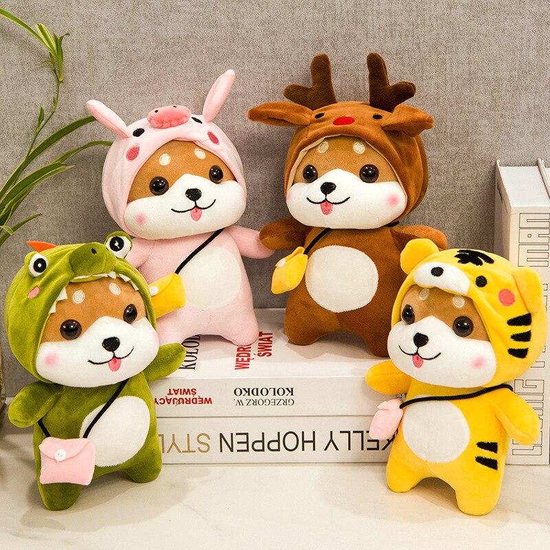 28/40/50cm Kawaii Shiba Inu Plüsch Spielzeug Weiche Angefüllte Cartoon Tier Hund Umgewandelt Schwein/Deer /krokodil/Tiger Puppe Kinder Geschenk