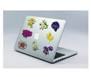 Image 5 - 50pcs spring flower stickers vinyl laptop skin plant floral sticker refrigerator suitcase sticker for MacBook Air Pro Retina/HP