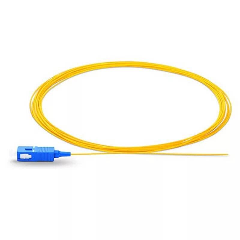 50PCS SC/ UPC Single mode fiber optic Pigtail 1M 9/125 Single Mode Optical fiber pigtail 0.9mm PVC Jacket