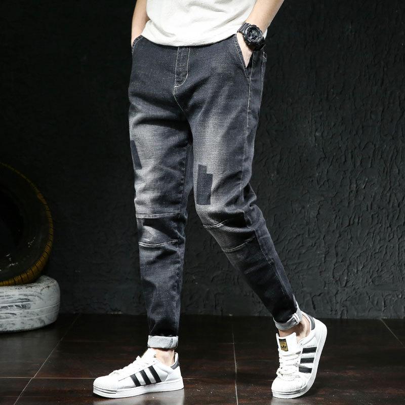 Jeans Men Denim Trousers Elastic Stretch Ripped Pants Streetwear Mens Waist Plus Big Size 44 46 HIp Hop Loose New Fashion Brand