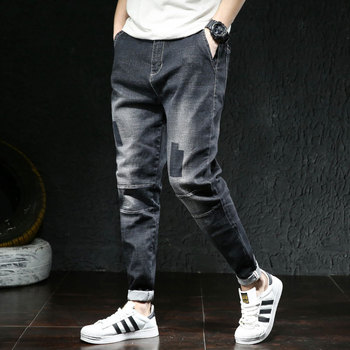 Jeans Men Elastic Waist Skinny Jeans Men Stretch Ripped Pants Streetwear Mens Denim Jeans Blue Black New Arrival Fashion  2020 hot sale 2017 new arrival spring fashion men jeans famous brand blue skinny denim ripped jeans for men cotton biker jeans hombre