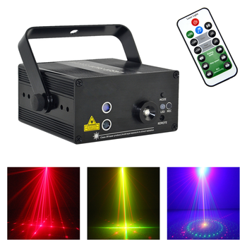 Mini RG 9 Gobos Projector Lights Mixed 3W Blue LED Effect Home Party Show Stage Laser Lighting in UK Warehouse Fast Delivery