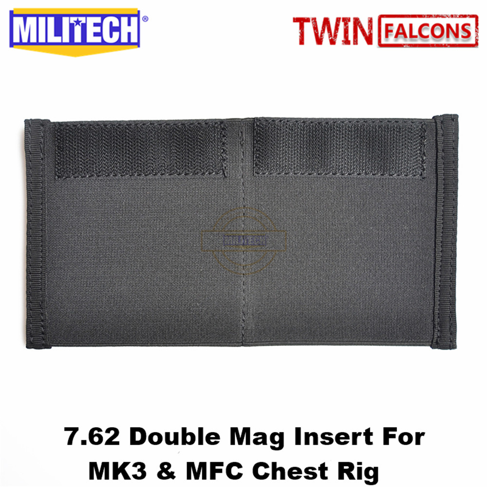 MILITECH TWINFALCONS 7.62mm X 39mm 7.62mm X 51mm AK Scar H Double Mag Insert Folder For Chassis MK3 MK4 Micro Chest Rig MFC 2.0