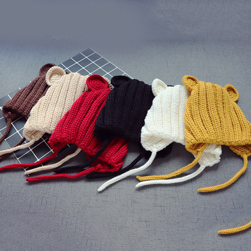NEW Toddler Kids Baby Girl Infant Winter Warm Crochet Knitted Hat Beanie Cap