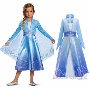 Girl Cosplay Prince Dress for Kid new Snow Queen costume dress princess disflaz carnival fasido de fista baby conguilados(China)