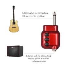 Mini Plugue de 6.35mm com Agudos Graves Preamplifier Preamp EQ Controle de Volume Da Guitarra Acústica Acessórios