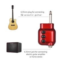 Mini Preamplifikatör Preamp ile 6.35mm Fiş Bas Tiz EQ Ses Kontrolü Akustik Gitar Aksesuarları