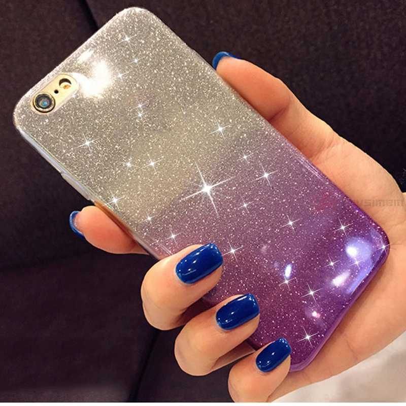 Gradient Glitter Soft Case for Huawei P9 P10 P20Lite P20 P8 Lite 2017 Honor 7A 7C 7X 7S 8 9 View 10 Nova 3 3i P Smart+Plus Cover