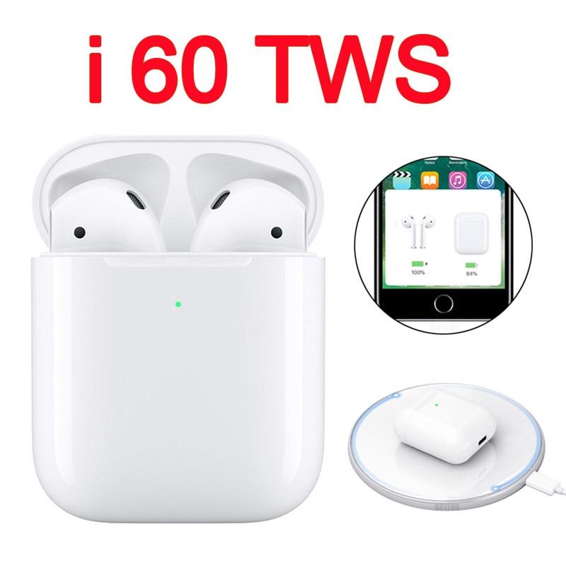 I60 TWS Não W1 Chip LK-TE9 i12 i10 i20 i30 Tws Esportes Verdadeiro Toque De Controle Sem Fio Fone de Ouvido Bluetooth 5.0 Fones De Ouvido fones de ouvido i 60
