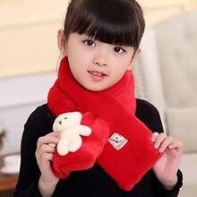 Новинка; зимний детский шарф с имитацией кроличьего меха; чистый