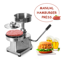 150mm Manual Hamburger Press Machine Burger Patty Stainless Steel Meat Pic Maker Processor Tool Sandwich Cutlet Bakemeat Kitchen