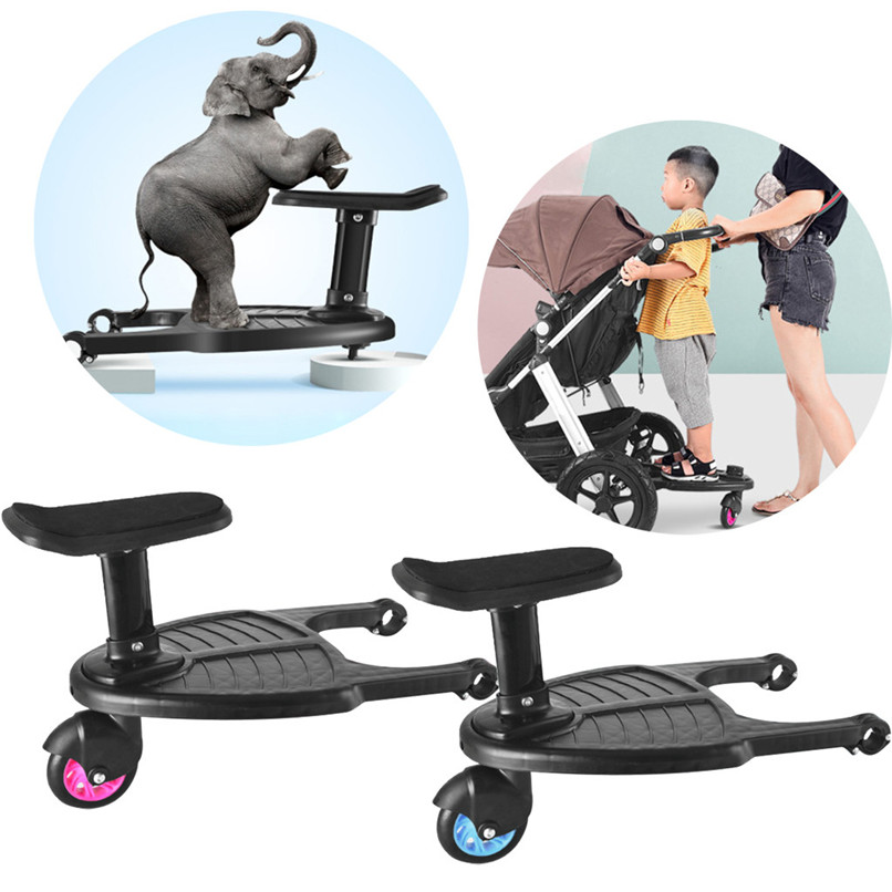 Wheeled Buggy Board Pushchair Stroller Kids Safety Comfort Step Board Up To 25Kg #4l31