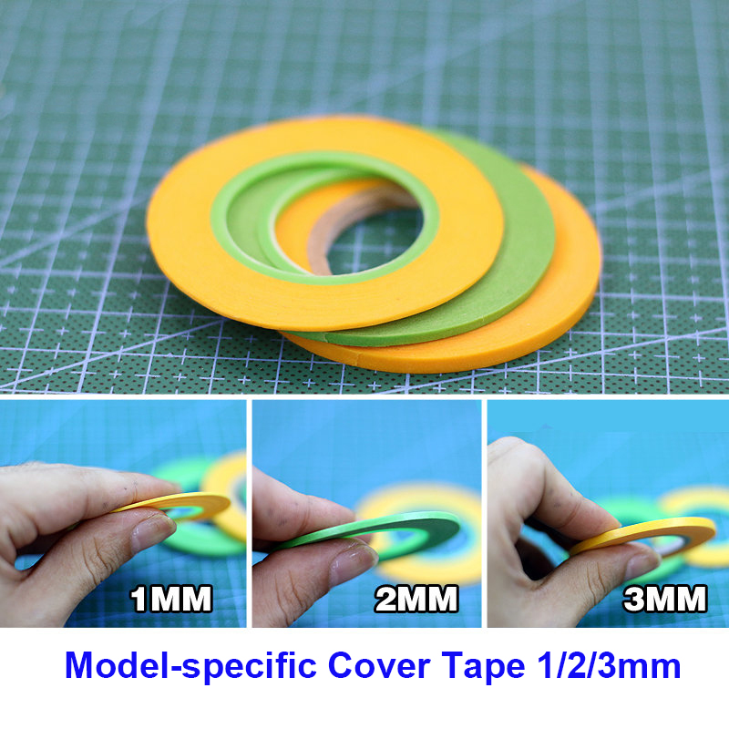 Model Painting Coloring Special Cover Tape 1mm/2mm/3mm