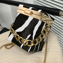 Golde Chain Handbag Fashion Mini Bag High Quality Versatile Messenger Bag Box Small Square Bag Crossbody Bag cheap SUNNY BEACH FLAP Shoulder Bags Shoulder Handbags CN(Origin) Hasp HARD Solid Bag vintage w521 Polyester WOMEN Alligator