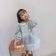 2020 Spring New Arrival Girls Long Sleeve Princess Dress Kids Fashion Cotton Dresses  Dress Elegant with Apron
