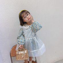 2020 frühjahr Neue Ankunft Mädchen Langarm Prinzessin Kleid Kinder Mode Baumwolle Kleider Kleid Elegant mit Schürze