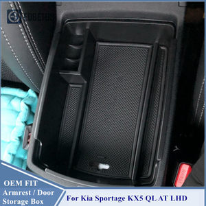 Image 3 - Armrest Storage Box For Kia Sportage KX5 QL AT LHD 2016   2020 Center Console Organzier Stowing Tidying Storage Holder Tray