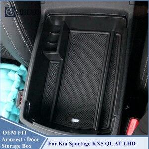 Image 3 - Schowek w podłokietniku dla Kia Sportage KX5 QL AT LHD 2016   2020 konsola środkowa Organzier schowek Tidying Storage tacka