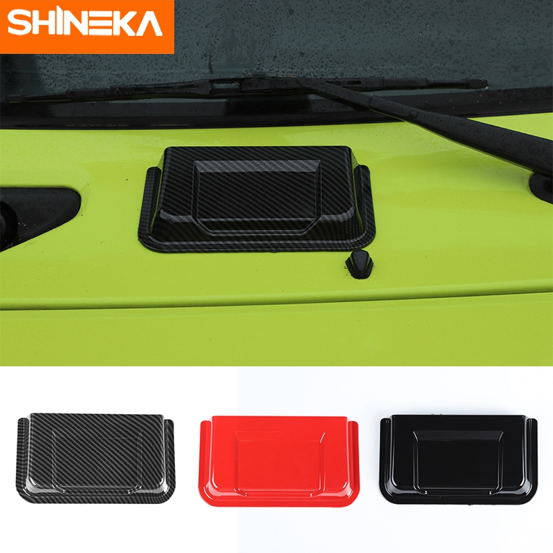 SHINEKA Car Stickers For Suzuki Jimny 2019 2020 Carbon Fiber Air Inlet Outlet Vent Intake Cover Trim For Suzuki Jimny 2019 2020
