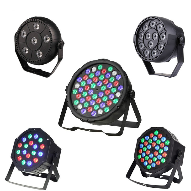 6/12/18/36/54X3W Par LED 3IN1 RGB Stage Lighting Effect DMX 512 Club Disco Party Ballroom KTV Bar Wedding DJ Projector Spotlight