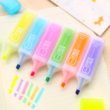 Hobby creative candy color large-capacity highlighter marker pen student prize mark graffiti