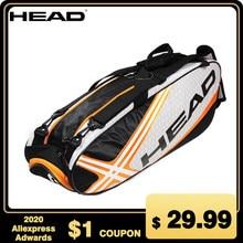 Мужская сумка для тенниса HEAD, большая спортивная сумка для тенниса, уличный рюкзак для бадминтона, 4-9, спортивная сумка с ручкой, водонепрони...