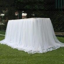 Красочная юбка-пачка для стола, Тюлевая скатерть для свадебного фестиваля, вечерние украшения стола, мягкий домашний текстиль, аксессуары для скатерти