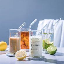 Стеклянная градуированная чашка термостойкая кружка стакан прозрачные