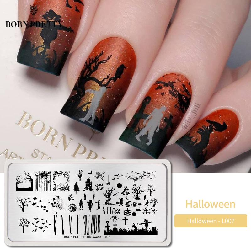born pretty halloween nail art stamping plate pumpkin christmas pattern image template festival new year nails stencil art stamping plate image templatenail art stamping plates aliexpress us 1 29 46 off born pretty halloween nail art stamping plate pumpkin christmas pattern image template festival new year nails stencil art stamping