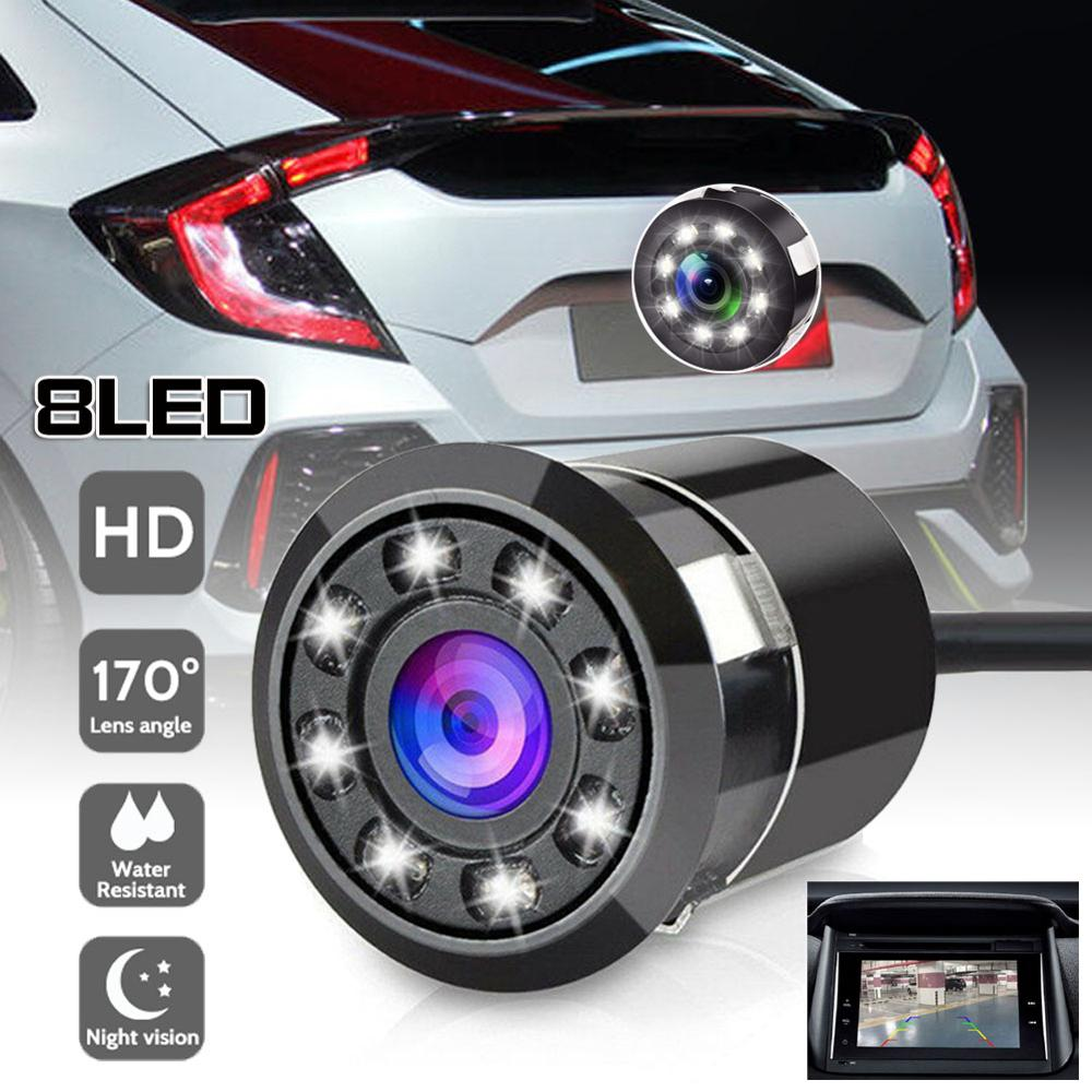 OLOMM 8 LED  Car Rear View Camera Car Parking Rear View Reverse 170     Night Vision Waterproof