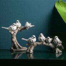 Amerykański styl żywica ptak oryginalność ja retro ptak & #39 s ornament wyroby czy dekoracji domu zwierząt figurka deskTV dekorac
