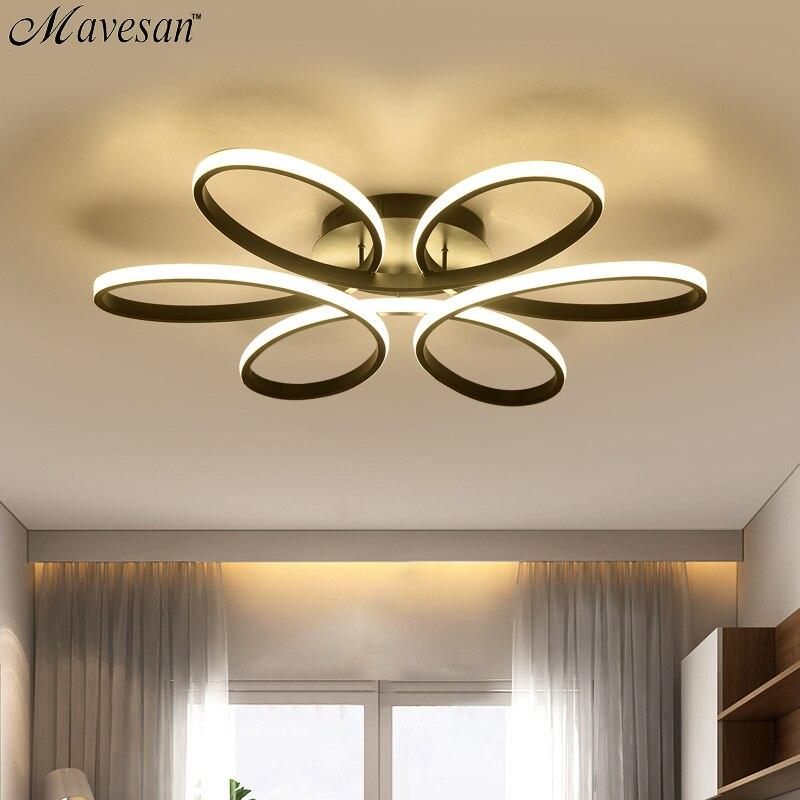 Lustre led moderne pour salon chambre salle à manger corps en aluminium intérieur maison lustre lampe luminaire AC90v-260v