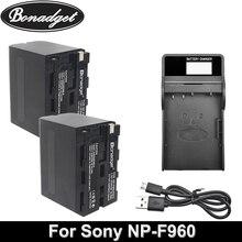цена на Bonadget 7.2V 8700mAh NP-F960 NP-F970 NP F960 F970 F950 Battery For Sony PLM-100 CCD-TRV35 MVC-FD91 MC1500C Camera Battery