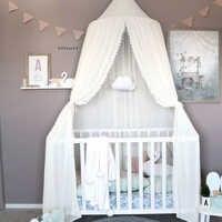 Шифоновая детская комната, москитная сетка, детская кровать, занавеска, навес, круглый для кроватки, сетка, палатка, балдахин, 240 см, украшени...