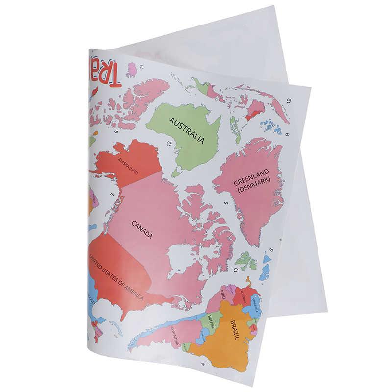 Kolorowe litery mapa świata DIY Vinyl naklejki ścienne dla dzieci pokój miłość Home Decor biuro Art naklejki 3D naklejki na ścianę na ścianie