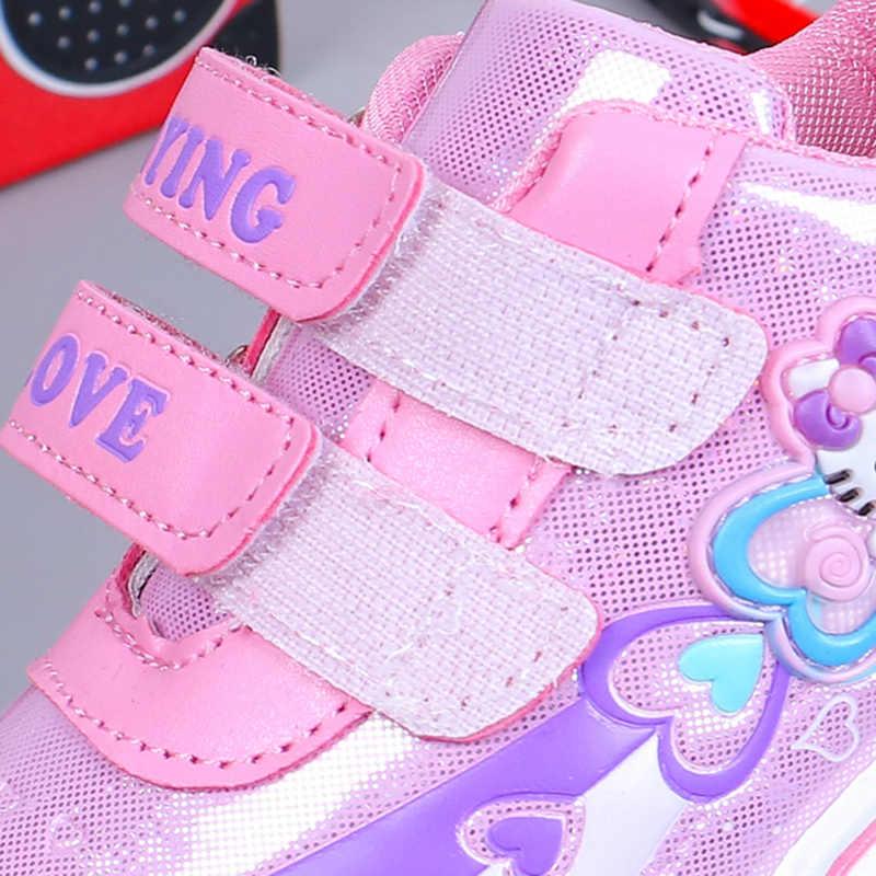 ULKNN tênis Roxo para os alunos das Crianças bebê malha esportes sapatos meninas respirável sapatos casuais sapatas dos miúdos sapatos da moda tamanho 26 -36