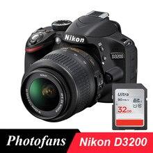 Nikon D3200 cyfrowy aparat fotograficzny DSLR z 18-55 zestawy soczewek (nowy)