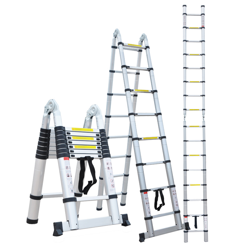 Aluminium Alloy Telescopic Ladder Multi-functional Household Trestle Ladder Portable Aluminum Ladder Stairs Ft