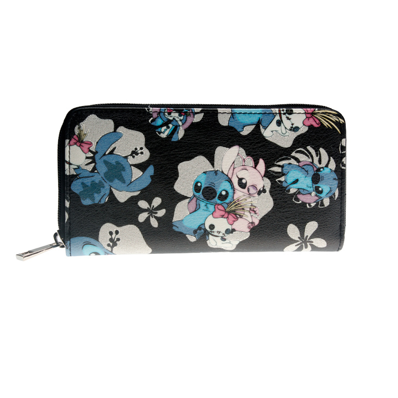 Stitch Women Wallet Large Capacity Wallets Female Purse Lady Purses Phone Pocket Card Holder  Dft2055