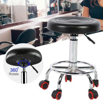 Height Adjustable Salon Stool Rolling Swivel Stool Tattoo Massage Spa Chair BlackSalon Home Furniture 1