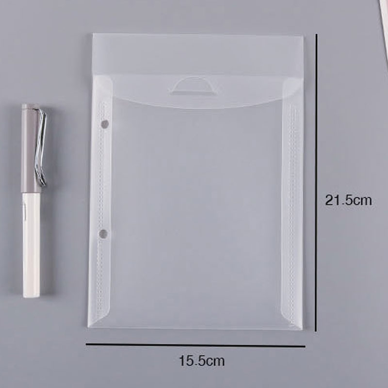 Two-hole File Holder Set A5 Transparent Folder Office Thickened File Bag Paper Clip Storage Punched Loose-leaf Bag Inner Page